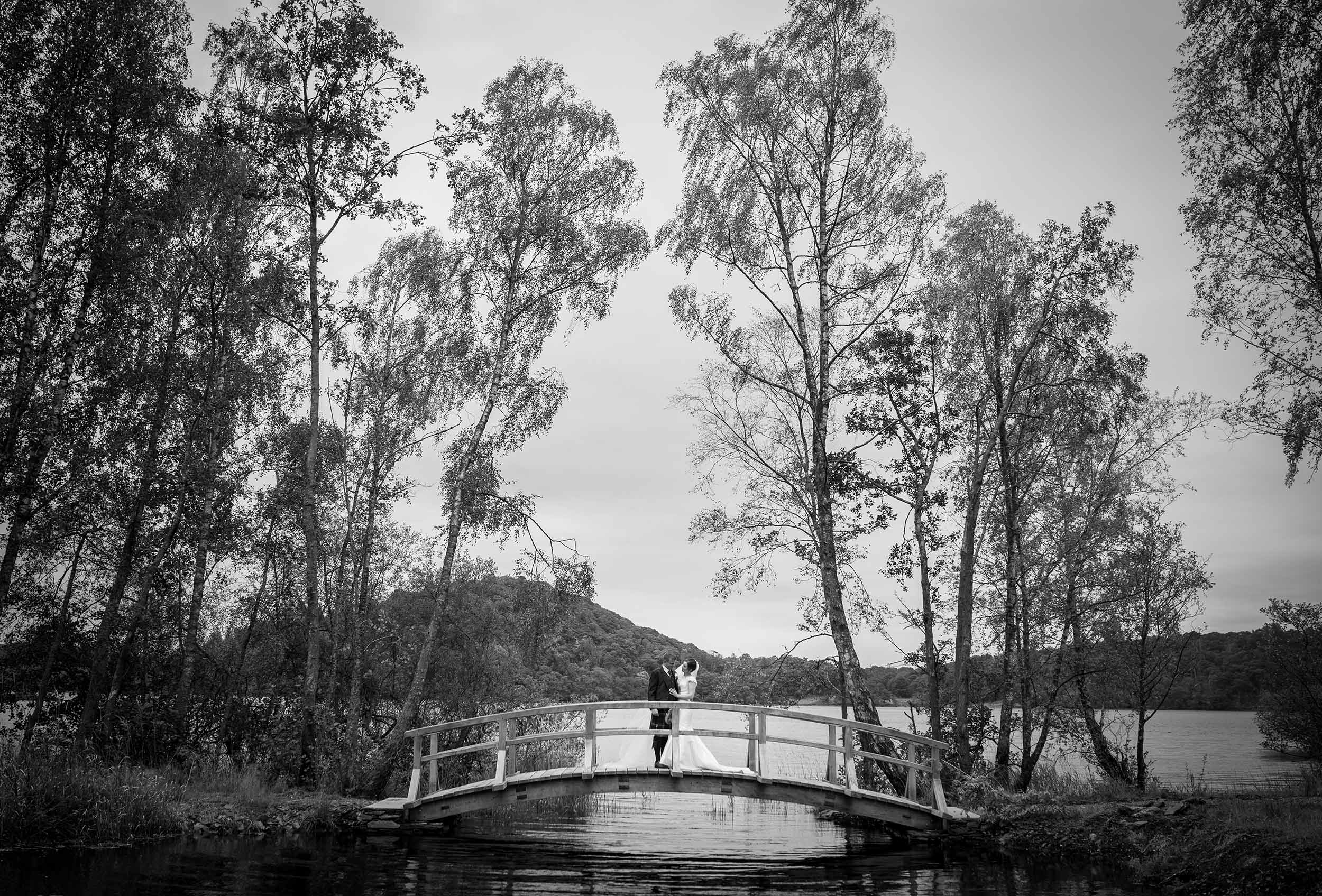 Black & white wedding photograph in Argyll by Gavin Brown